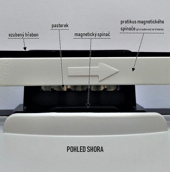 Rýchly pohon posuvnej brány do 400 kg s magnetickým spínačom