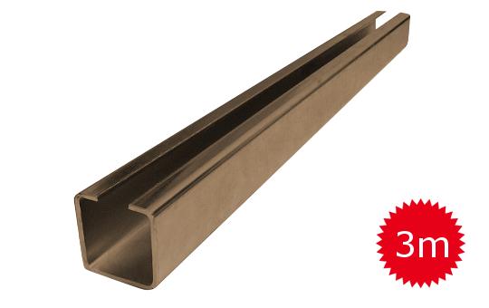 Nosný C profil pre posuvnú bránu 60mm dľžka 3 metrov