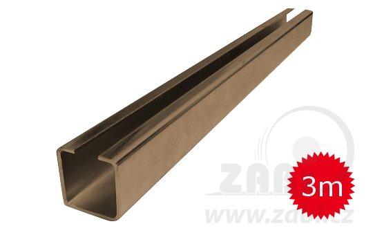 Nosný C profil pre posuvnú bránu 30mm dľžka 3 metrov