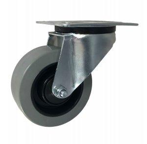 Gumové koleso 100 mm otočná vidlica s doskou