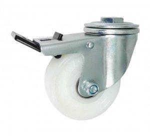Plastové koleso 100 mm otočná vidlica  s brzdou