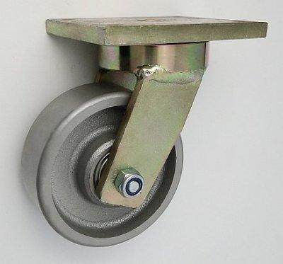 Liatinové koleso 125 mm otočná vidlica s doskou