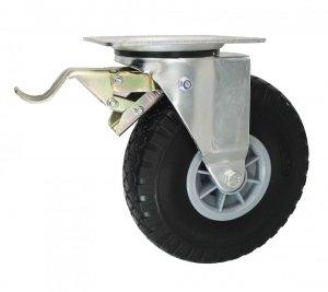 Elastické koleso 260mm v otočnej vidlici