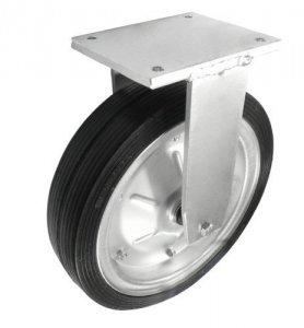 Gumové koleso 350 mm pevná vidlica s doskou