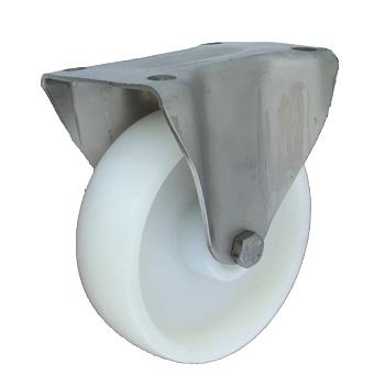 Plastové koleso 100 mm pevná vidlica antikoro