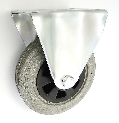 Gumové koleso 160 mm pevná vidlica s doskou