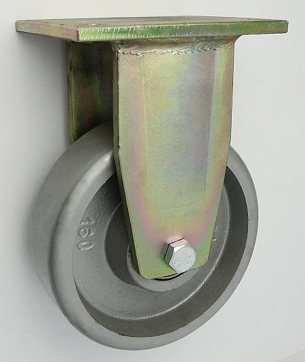 Liatinové koleso 160 mm pevná vidlica s doskou