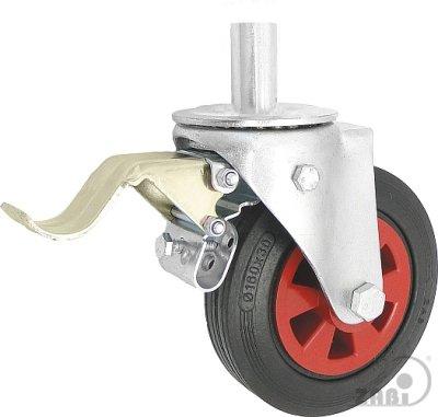 Gumové koleso 160 mm otočná vidlica s čapom