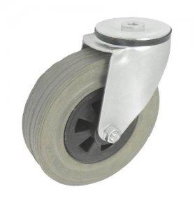 Gumové koleso 180 mm otočná vidlica s otvorom