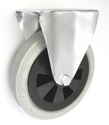 Gumové koleso 200 mm pevná vidlica s doskou