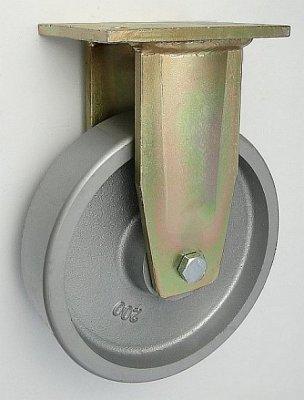 Liatinové koleso 200 mm pevná vidlica s doskou