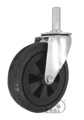 Gumové koleso 200 mm otočná vidlica s čapom