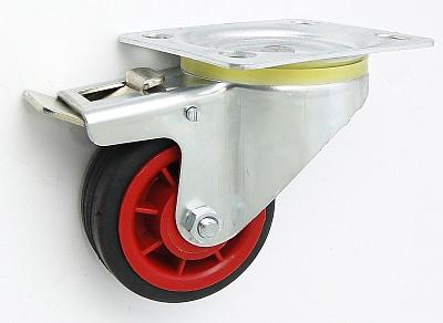 Gumové koleso 80 mm otočná vidlica s doskou