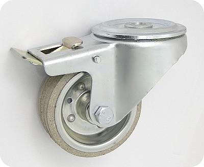 Gumové koleso 80 mm otočná vidlica s otvorom