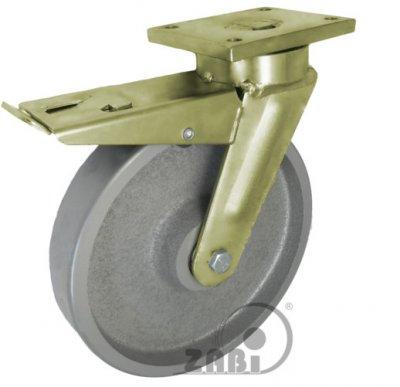 Liatinové koleso 250 mm otočná vidlica s doskou