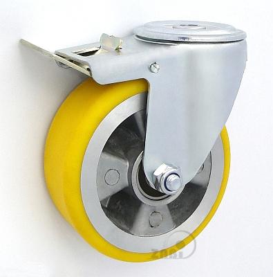 Polyuretánové koleso 125 mm otočná vidlica