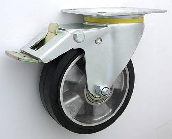 Gumové koleso 250 mm otočná vidlica s doskou