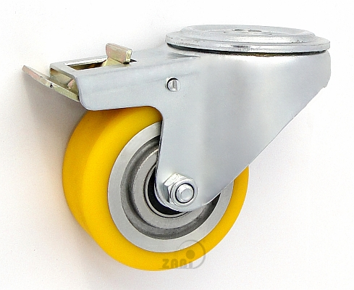 Polyuretánové koleso 80 mm otočná vidlica