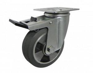 Gumové koleso 125 mm otočná vidlica s doskou