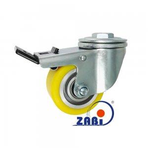 Polyuretánové koleso 80 mm otočná vidlica s brzdou
