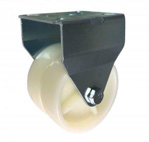 Plastové dvojité koliesko v pevnej vidlici