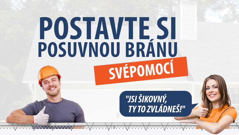 Banner - Posuvná brána SVOJPOMOCNE